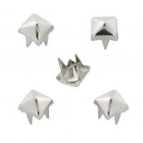 Schmuck-Niete Pyramide, 5 mm, Btl, a 20 St, Zink, nickelfrei, silberfarben