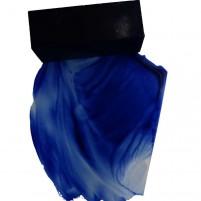 501- Die Ultramarin Encaustic Wachsfarbe ist ein reinblauer intensiv anmutender Farbton, der jeden Betrachter durch seine Leuchtkraft in Bann zieht. Mit Farbausstrich.