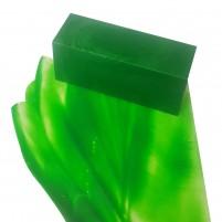 Encaustic Künstlerfarbe, Wachsblock 40 ml in saftigem Grasgrün