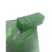 Künstler Wachsfarbe für Encaustic Malerei, Metallic Grün Wachsblock mit echten Metallpigmenten. Encaustic Wachs für höchste Ansprüche, handgemacht in Deuschland.