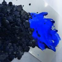 Encaustic Farbpigment Royalblau. Hochintensives, leuchtendes Pigment zum selber Herstellen von Encaustic Wachsfarben.