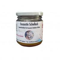 Encaustic Schellack, 100 g im Gläschen, Gold