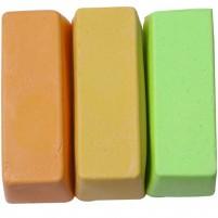 Encaustic Wachsfarben-Sortiment, 3 große Blöcke: Apricot, Maisgelb, Pistazie hell