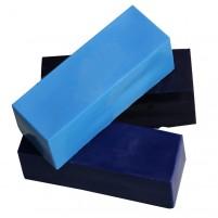 Encaustic Wachsfarben-Sortiment, 3 große Wachsblöcke in kraftvollen und leuchtenden, aufeinander abgestimmten Blautönen für Encaustic Malerei.