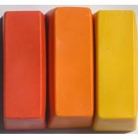Künstler Wachsfarbe für Encaustic Painting Farbensortiment Nr. 1, große Blöcke: Zitronengelb, Kadmiumgelb, Orange