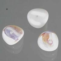 Glasperle Nuggets, 4x9 mm, 30 Stk,, Dose, weiß AB