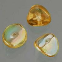 Glasperle Nuggets, 4x9 mm, 30 Stk,, Dose, braun AB