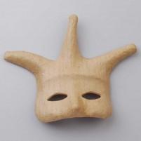 Maske aus Pappmaché, Harlekin
