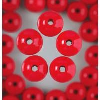 Holzperlen, 14 mm, 18 Stk,, Rot