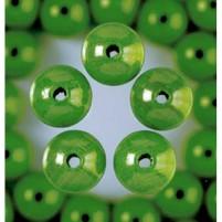 Holzperlen, 10 mm, 53 Stk,, Apfelgrün