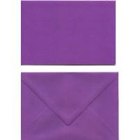 A Doppelkarten + Umschläge, Set B6, Violett