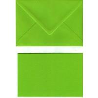 10 Faltkarten + 10 Umschläge, Größe B6, Maigrün