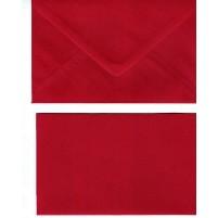 A Doppelkarten + Umschläge, Set B6, Rot