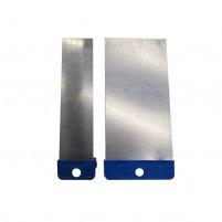 Metallspachtel-Set-ultra-schmal-für Encaustic-Paletta-Technik. 2 Spachtel 25 und 50 mm breit.