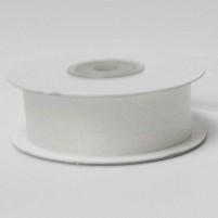 Organzaband 25 mm, Weiß, Rolle mit 25 Meter