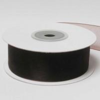 Organzaband 25 mm, Dunkelbraun, Rolle mit 25 Meter