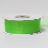 Organzaband 25 mm, Hellgrün, Rolle mit 25 Meter