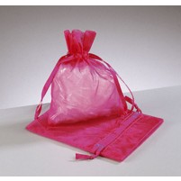 Mini Organzabeutel 7,5 x 10 cm, 2 Stk, Pink