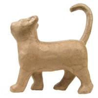 Décopatch Katze (laufend) aus Pappmaché, 19 x 6 x 21 cm