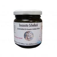 Encaustic Schellack, 100 g im Gläschen, Schwarz