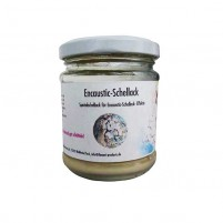 Encaustic Schellack, 100 g im Gläschen, Silber