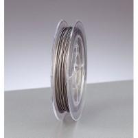 Schmuckdraht nylonummantelt, 0,38 mm, 10 m,  silber