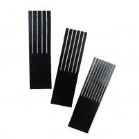 Encaustic Wellenkamm Sortiment / Stahlkamm 25 mm, 3 Stk, verschiedene Zahnbreiten