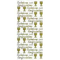 """Ziersticker """"Einladung zur Konfirmation"""", gold"""