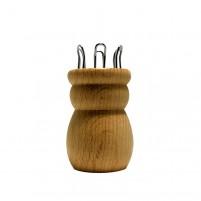 Strickliesel, 6 Nägel, Loch 15 mm mit Nadel