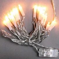 Lichterkette mit An- / Ausschalter, 20 Lämpchen, transparent