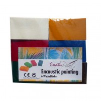 6 Stück Encaustic Wachsfarben in blöckchenform mit den wichtigen Grundfarben, die man immer benötigt.