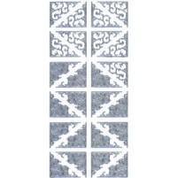 Ziersticker Schnörkel-Ecken Silber